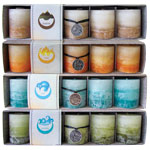 Zenature Elemental Mini Pillar Candles - Assorted (4 boxes of 5)