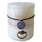 Zenature Elemental Pillar Candles - Vanilla / Earth (2)