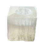 Selenite Candle Holder - Cube
