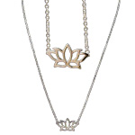 Necklace with Lotus Charm (3)