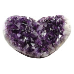 Amethyst Polished Edge Clusters - Heart