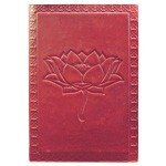 Zenature Leather Journal - Lotus Flower (4 x 5 inch)