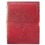 Zenature Leather Journal - Lotus Flower (6 x 8 inch)
