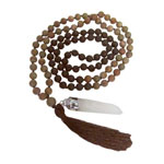 Japa Mala (Prayer Beads) - Matte Jasper and Lava Stone
