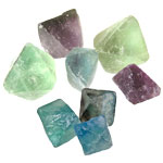 Fluorite Octahedrons - Natural Rough Small (4)
