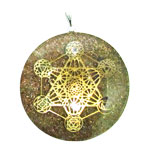 Orgone Chakra Pendant - Copper Shards with Chakra Energy Grid