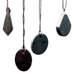 Shungite Flat Pendant - Assorted Shapes