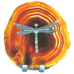 Pewter on Agate - Dragonfly