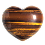 Puffy Heart Stones - Gold Tigereye (6)