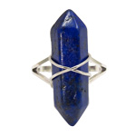 Double Terminated Point Ring - Lapis Lazuli