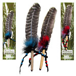 Zenature Smudging Feather - Leather Wrapped with Beads
