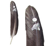 Zenature Smudging Feather - Wolf and Moon