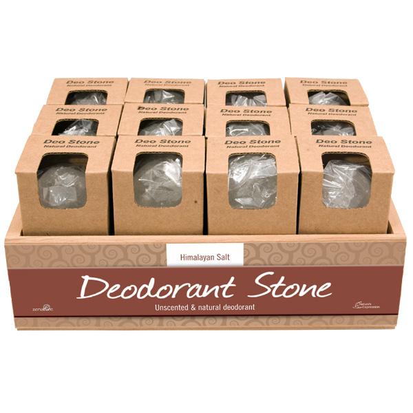 Mineral Salt Deodorant Stone Display 24 Display