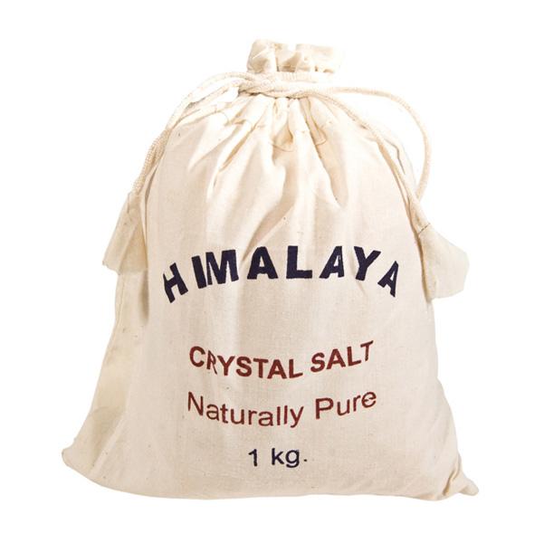 Himalayan Salts 1kg Cotton Bag