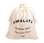 Himalayan Salts 1kg Cotton Bag