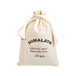 Himalayan Salts 250 g Cotton Bag (12)