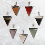 Gemstone Triangle Pendant - Assorted (7)