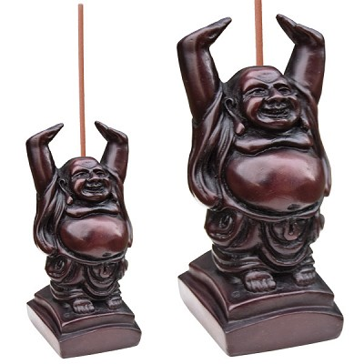 Incense Holders - Hands Up Happy Buddha