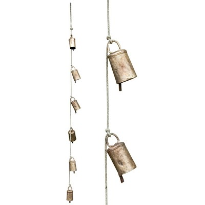 Rustic Graduated Cow Bells - (40 inch) 6/Rope