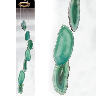 Agate Wind Chimes - (Large) Green
