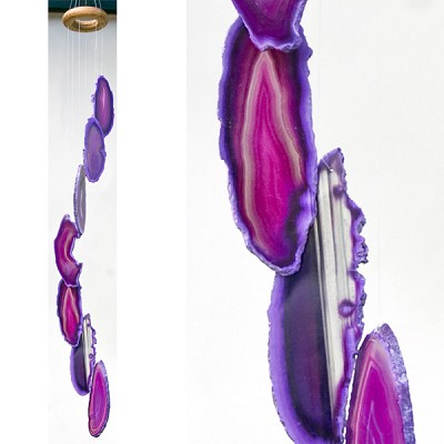 Agate Wind Chimes - (Small) Purple