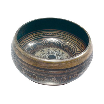 Singing Bowl - Machine Etched w/ 3D Mandala (XL)