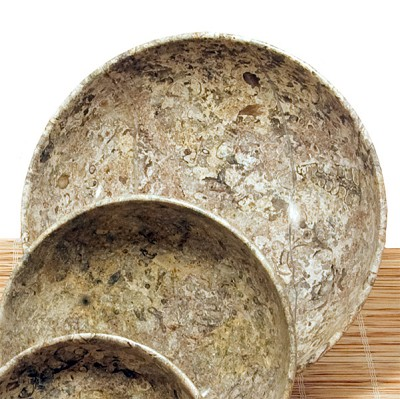 Bowl - Fossil Marble (8 inch)