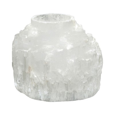 Selenite Mountain Candle Holder