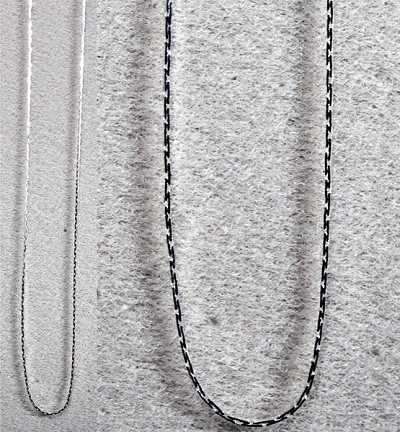 Necklace Chain - Flat (24 inch) Silver Plated (6)
