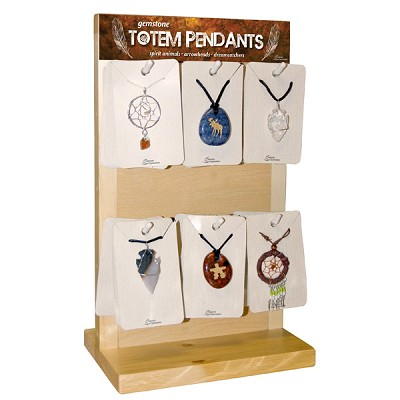 Pendant Display - Totem, Dreamcatcher and Arrowhead (36/Display)