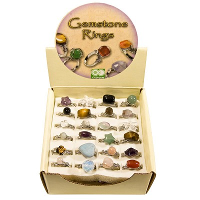 Gemstone Shaped Ring Display (48/Display)
