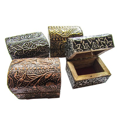 Metal Trinket Boxes - Assorted (8)