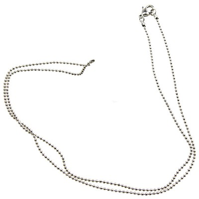 Necklace Chain - Ball (18 inch) Metal (6)