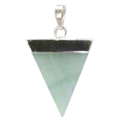 Gemstone Triangle Pendant - Green Aventurine