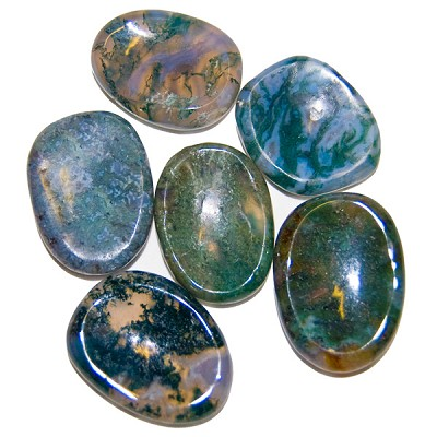 Thumbstones - Moss Agate (6)