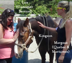 Lisa and Margaux with Kingson