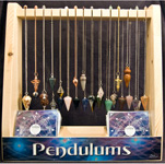 Pendulum Display (Large) - Faceted Gemstone (40/display) with Pendulum Mats