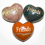 Puffy Heart Gems (Engraved) - Friends (6)