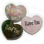 Puffy Heart Gems (Engraved) - I Love You (6)