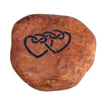 Talisman Stones - Double Celtic Heart (6)