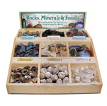 Rock, Mineral and Fossil Bin Display (pre-pack)