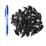 Mineral and Fossil Treasures - Black Obsidian Arrowheads (Size 0) (60 pcs)