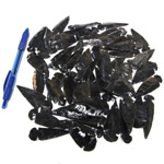 Mineral and Fossil Treasures - Black Obsidian Arrowheads (Size 1) (50 pcs)