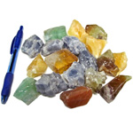 Mineral and Fossil Treasures - Calcite in natural colours (Size 2) (18 pcs)