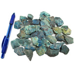 Bin Sized - Chrysocolla Rough (Size 0) (36 pcs)