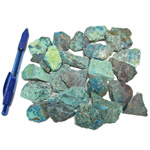 Bin Sized - Chrysocolla Rough (Size 2) (36 pcs)