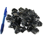 Mineral and Fossil Treasures - Black Obsidian Rough (Size 0) (36 pcs)