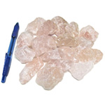 Bin Sized - Rose Quartz Chunks (Size 1) (18 pcs)