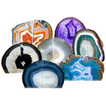 Agate Bookends - Assorted Colours