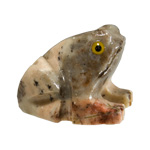 Carved Stone Frog - Assorted Onyx (3)